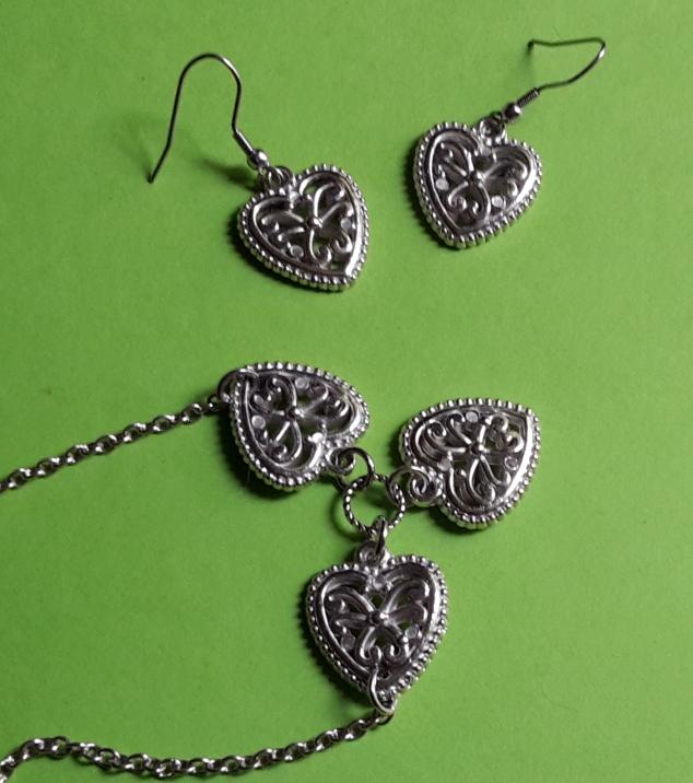 Parure cœurs celtiques création shabijou